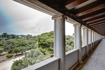 Stoa of Attalos and Temple of Hephaistos - Agora of Athens© Çe