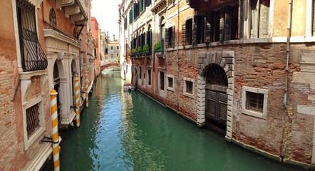 Kanal und Häuser in Venedig