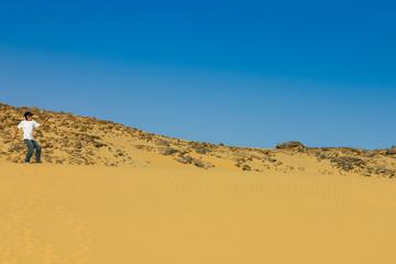 position égyptienne dans les dune