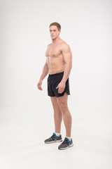 Healthy athletic man posing