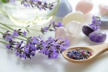 lavender and gemstones
