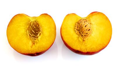 Peaches isolated