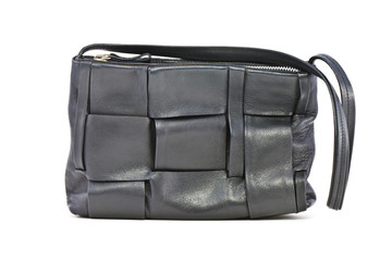 Black leather women bag
