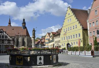 Brunnen i.d. Altstadt von Feuchtwangen