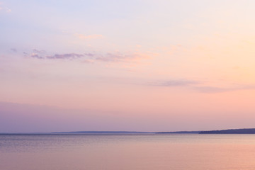 Peaceful morning at the lake and pastel colours