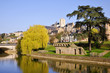 Leinwanddruck Bild - The river Sarthe at Le Mans in France
