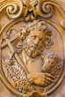 Leuven - Carved relief of Saint John the Baptist