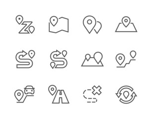 Outline Route Icons
