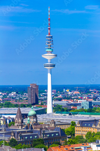 canvas print picture Fernsehturm Hamburg