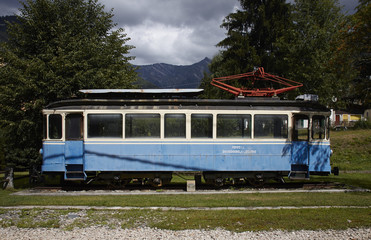 Historic train of Locarno to Domodossola's railway