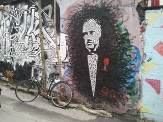 Beautiful draw in a street
