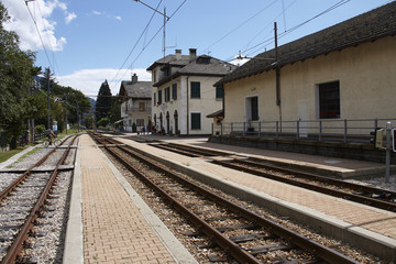 Train station of Santa Maria Maggiore in Italy
