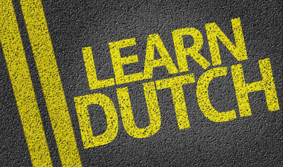 Learn Dutch written on the road