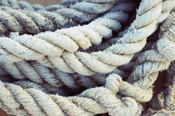 White rope on pier