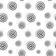 Spiral monochrome seamless texture - 66793518