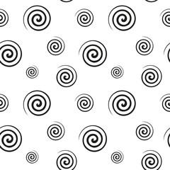 Spiral monochrome seamless texture