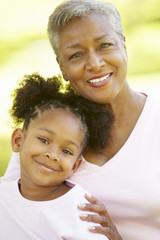 Grandmother and graddaughter portrait
