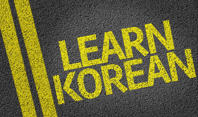 Learn Korean written on the road