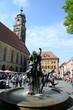 Hochzeitsbrunnen und Basilika in Amberg
