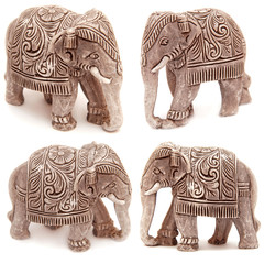 Collection of elephant figurines