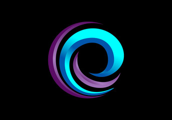e internet circle abstract vector