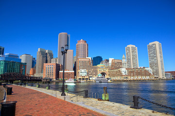 Boston Harbor Waterfront, Massachusetts, USA