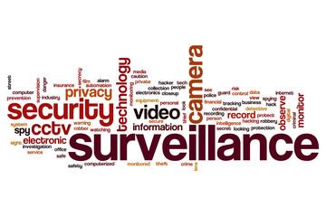 Surveillance word cloud