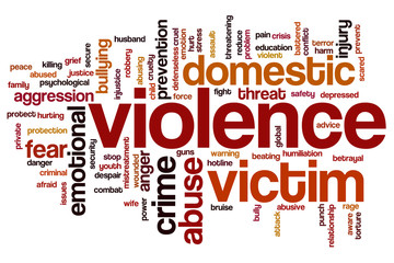 Violence cup word cloud