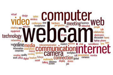 Webcam word cloud