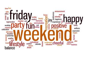 Weekend word cloud