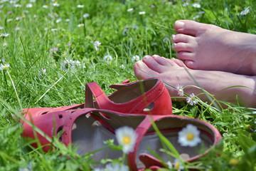 Barefoot woman A