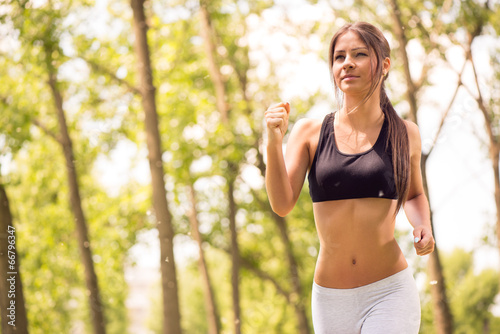 canvas print picture Jogging