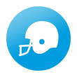 Etiqueta redonda casco de futbol americano