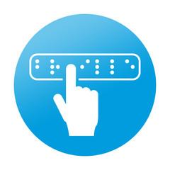 Etiqueta redonda braille