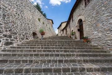 Pievebovigliana, tipico scorcio del centro storico.