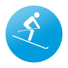 Etiqueta redonda esqui