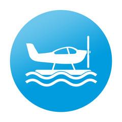 Etiqueta redonda hidroavion