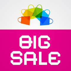 Big Sale Paper Title on Pink Background
