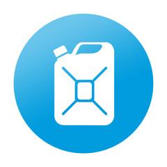 Etiqueta redonda bidon de gasolina