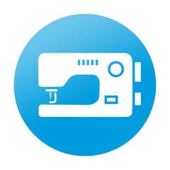 Etiqueta redonda maquina de coser