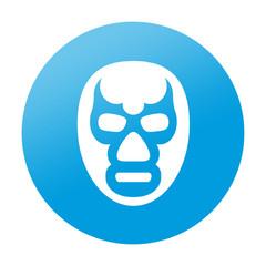 Etiqueta redonda mascara de lucha libre