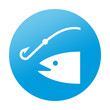 Etiqueta redonda pesca