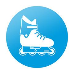 Etiqueta redonda patin en linea