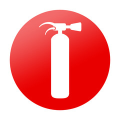 Etiqueta redonda extintor