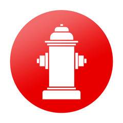 Etiqueta redonda hidrante