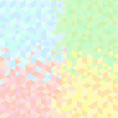 Abstract triangles background  in pastel colors