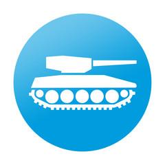 Etiqueta redonda tanque