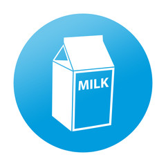 Etiqueta redonda tetrabrick de leche