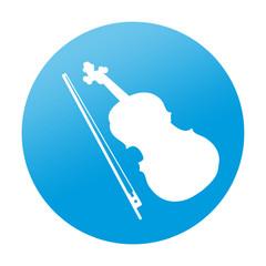 Etiqueta redonda violin