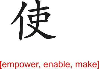 Chinese Sign for empower, enable, make